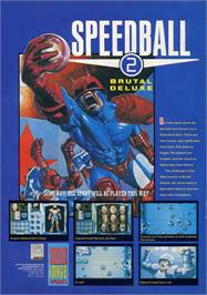 Advert for Speedball 2: Brutal Deluxe on the Sega Genesis.