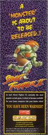 Advert for Street Fighter II - The World Warrior on the Nintendo Game Boy.