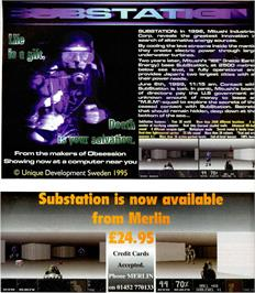 Advert for Substation on the Atari ST.