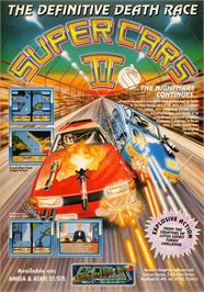 Advert for Super Cars 2 on the Commodore Amiga.