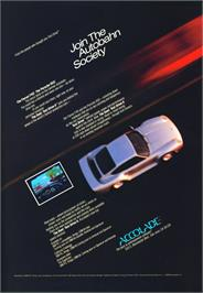 Advert for Test Drive II Car Disk: Musclecars on the Atari ST.