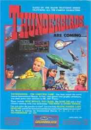 Advert for Thunderbirds on the Commodore Amiga.