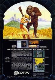 Advert for Times of Lore on the Atari ST.