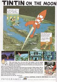 Advert for Tintin on the Moon on the Amstrad CPC.