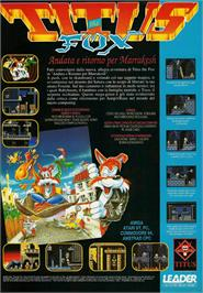 Advert for Titus the Fox: To Marrakech and Back on the Commodore Amiga.