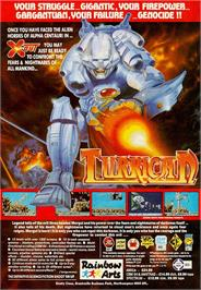 Advert for Turrican on the Commodore Amiga.