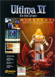 Advert for Ultima VI: The False Prophet on the Commodore 64.