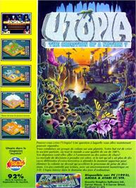 Advert for Utopia: The Creation of a Nation on the Nintendo SNES.