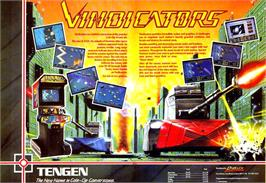 Advert for Vindicators on the Atari ST.