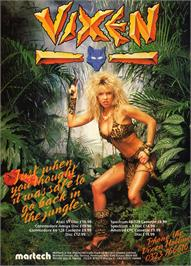 Advert for Vixen on the Atari ST.