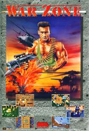 Advert for War Zone on the Atari ST.
