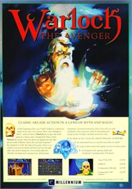 Advert for Warlock: The Avenger on the Commodore Amiga.