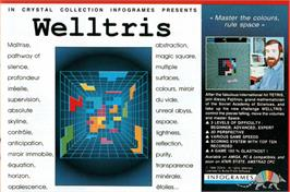 Advert for Welltris on the Arcade.