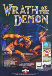 Advert for Wrath of the Demon on the Commodore Amiga.