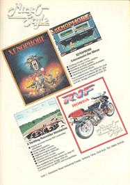 Advert for Xenophobe on the Atari 7800.