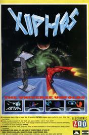 Advert for Xiphos on the Commodore Amiga.