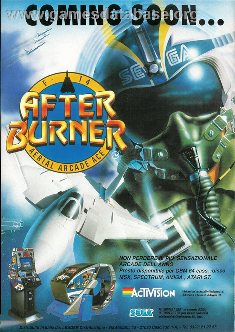 After Burner - Atari ST - Artwork - Advert
