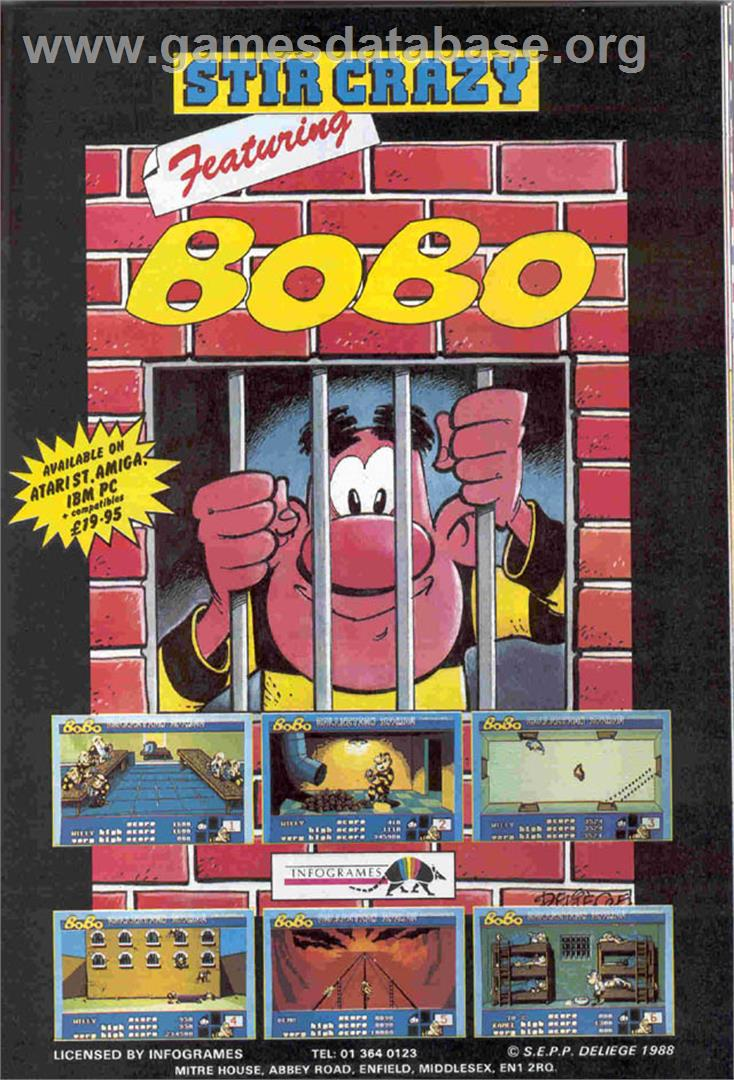 BoBo - Atari ST - Artwork - Advert