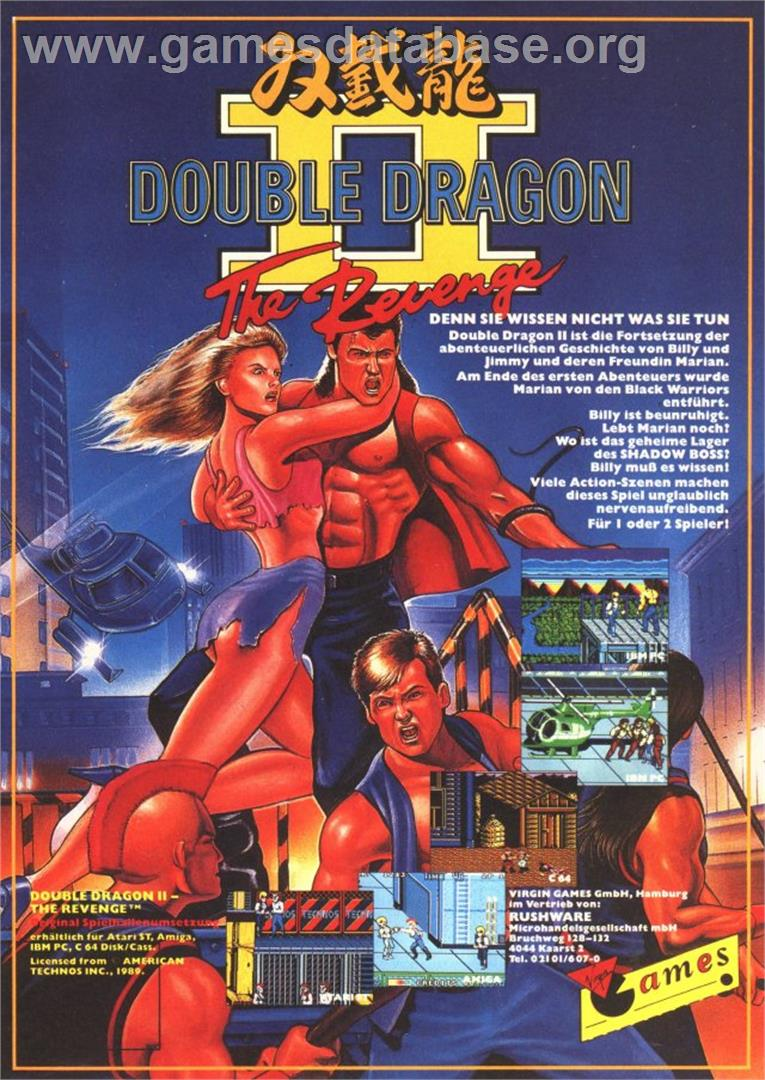Advert for Double Dragon II - The Revenge on the Atari ST.