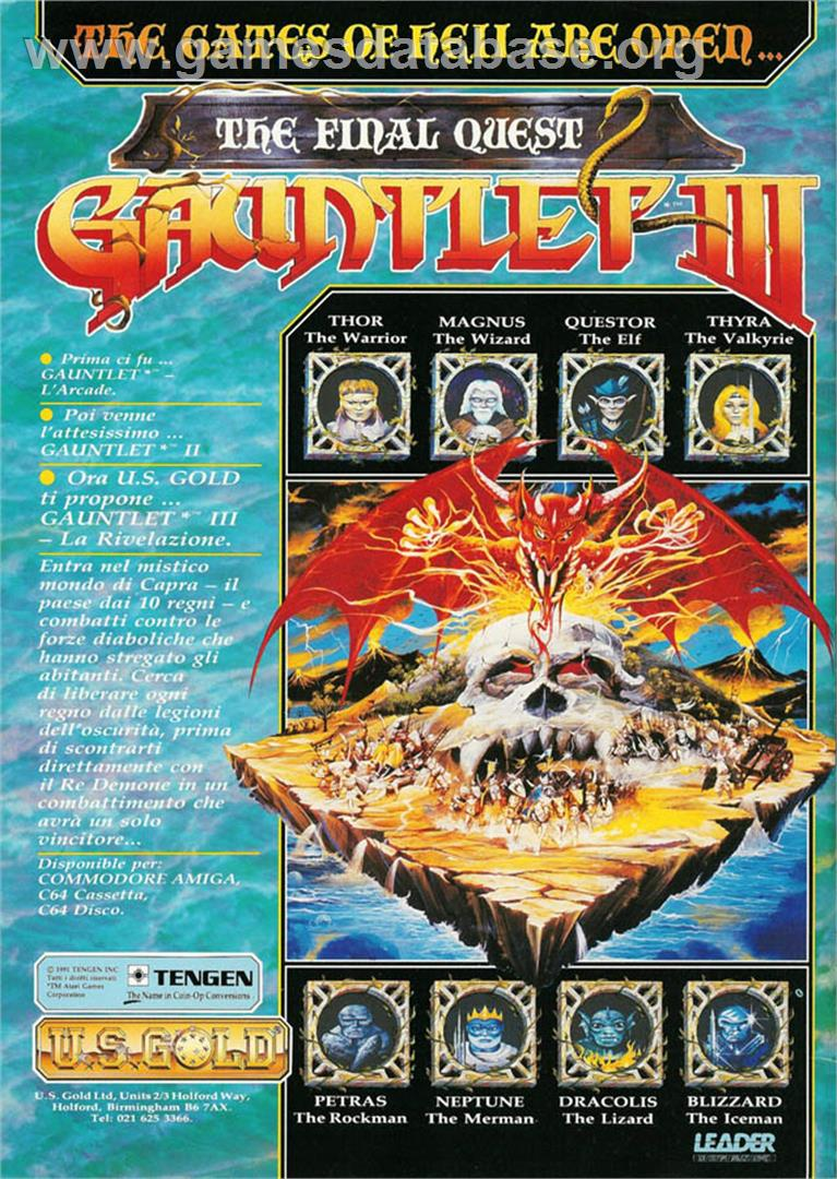 Advert for Gauntlet III on the Atari ST.