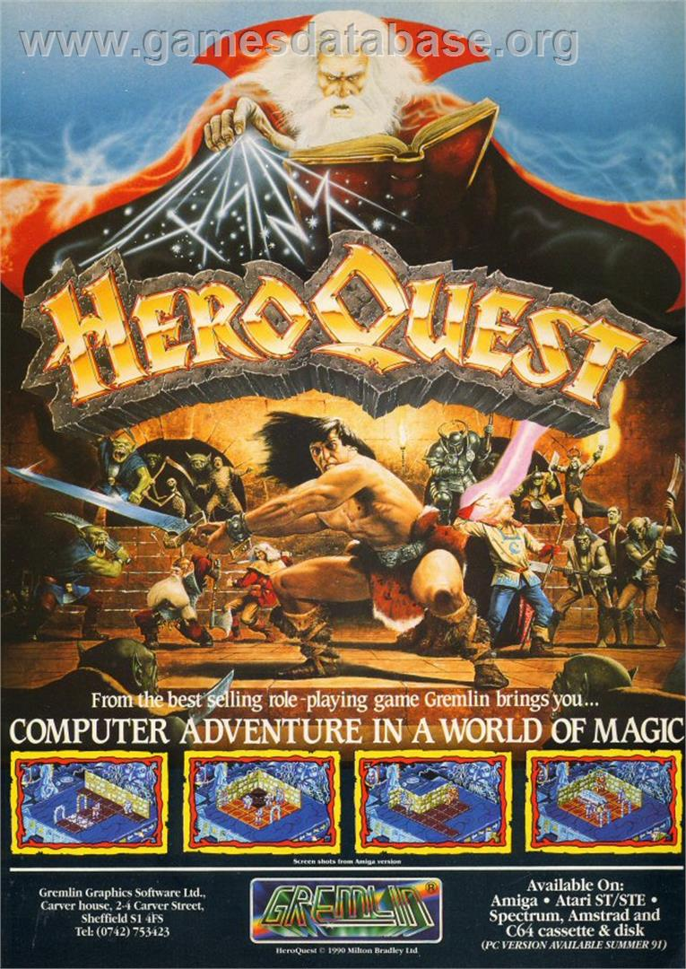 Hero Quest - Commodore Amiga - Artwork - Advert