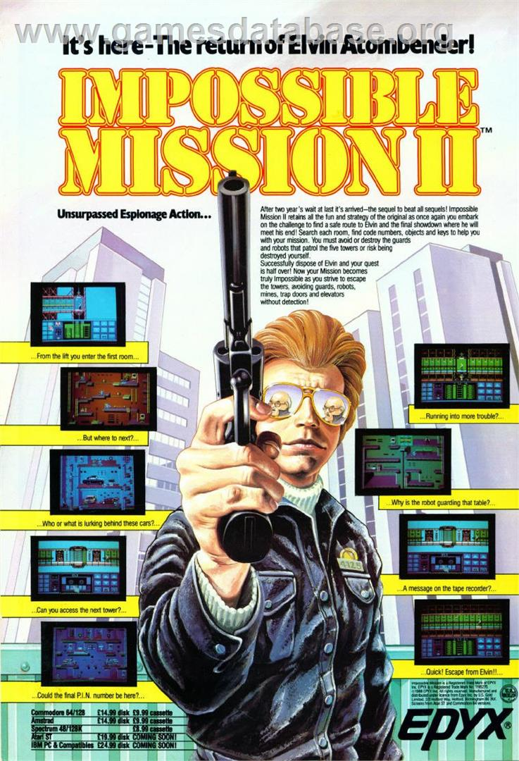 Impossible Mission 2 - Commodore Amiga - Artwork - Advert