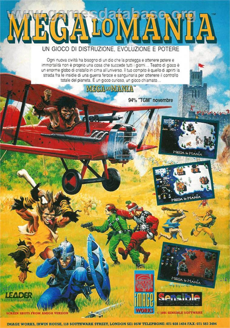 Advert for Mega lo Mania on the Nintendo SNES.
