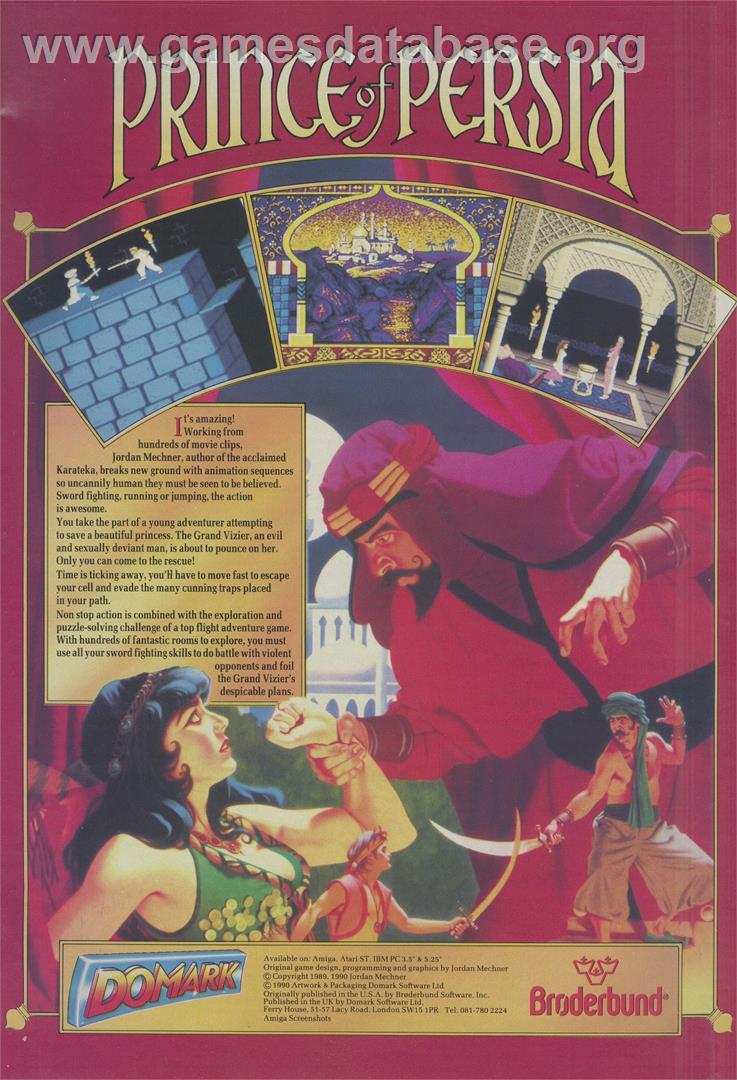 Prince of Persia - MGT Sam Coupe - Artwork - Advert