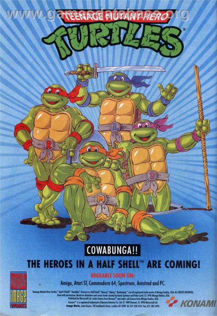 Teenage Mutant Ninja Turtles - Atari ST - Artwork - Advert