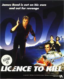 Box cover for 007: Licence to Kill on the Atari ST.