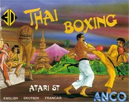 Box cover for 4D Boxing on the Atari ST.