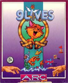Box cover for 9 Lives on the Atari ST.