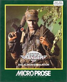 Box cover for Airborne Ranger on the Atari ST.