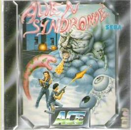 Box cover for Alien Syndrome on the Atari ST.