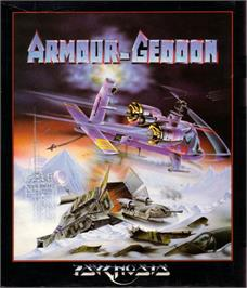 Box cover for Armour-Geddon on the Atari ST.