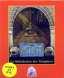 Box cover for Astate: La Malédiction des Templiers on the Atari ST.