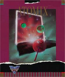 Box cover for Atomix on the Atari ST.
