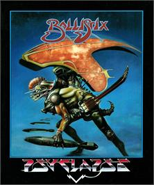 Box cover for Ballistix on the Atari ST.