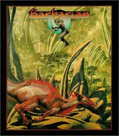 Box cover for Barbarian on the Atari ST.