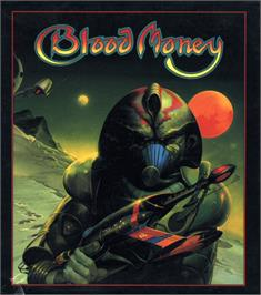 Box cover for Blood Money on the Atari ST.