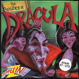 Box cover for Brides of Dracula on the Atari ST.