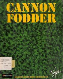 Box cover for Cannon Fodder on the Atari ST.