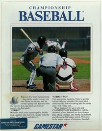 Box cover for Championship Baseball on the Atari ST.