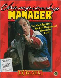 Box cover for Championship Manager on the Atari ST.