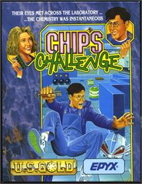 Box cover for Chip's Challenge on the Atari ST.