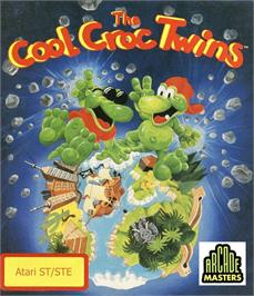 Box cover for Cool Croc Twins on the Atari ST.