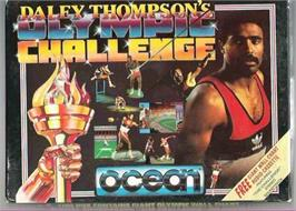 Box cover for Daley Thompson's Olympic Challenge on the Atari ST.