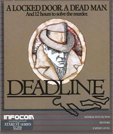 Box cover for Deadline on the Atari ST.
