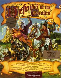 Box cover for Defender of the Crown on the Atari ST.