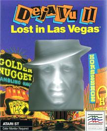 Box cover for Deja Vu 2: Lost in Las Vegas on the Atari ST.